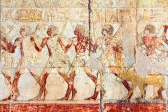 Alte Ägypten-Bilder und Hieroglyphen Stockfotografie