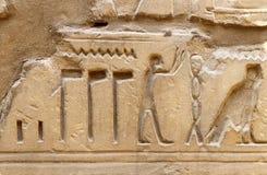 Alte Ägypten-Bilder und Hieroglyphen Lizenzfreie Stockfotos