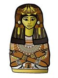 Alte ägyptische Frau Stockfoto