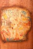 Alte ägyptische Könige und Königin stockfoto
