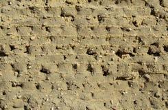 Alte ägyptische mudbrick Wand Lizenzfreie Stockfotografie