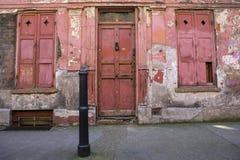 Alte Äußere von Princelet-Straße in London lizenzfreie stockfotos