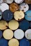 Alte Ölbarrel Stockbilder