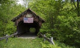 Alte überdachte Brücke kornisch, New Hampshire Stockfoto