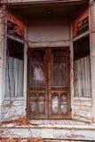 Alte überwucherte Tür Stockfotografie