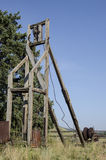 Alte abanadoned Bergwerksausrüstung gelegen in Victor Colorado Stockfotografie