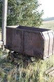Alte abanadoned Bergwerksausrüstung gelegen in Victor Colorado Lizenzfreie Stockfotos