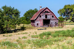 Alte Abandonded-Scheune in Oklahoma Lizenzfreies Stockfoto