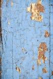 Alte abblätternde blaue Farbe Lizenzfreie Stockfotografie