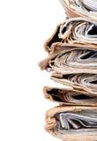 Alte Abdeckungs-Dateien vereinbart im chaotischen Stapel Lizenzfreie Stockfotografie