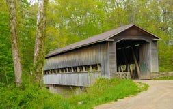 Alte abgedeckte Brücke stockfotografie