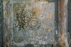 Alte abgeriebene Decke mit gebrochener Farbe Lizenzfreies Stockfoto