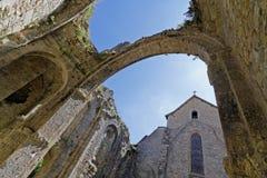 Alte Abtei Marcilhac-sur Célé Lizenzfreies Stockfoto