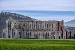 Alte Abtei von San Galgano in Toskana, Italien Stockbild