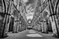 Alte Abtei von San Galgano in Toskana, Italien Stockfotografie