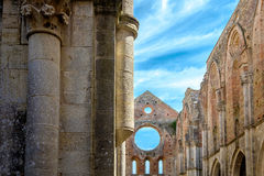 Alte Abtei von San Galgano in Toskana, Italien Lizenzfreies Stockfoto