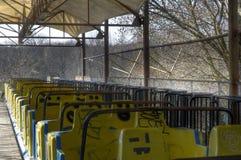 Alte Achterbahn Stockbild