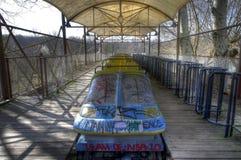 Alte Achterbahn in Spreepark Berlin Lizenzfreie Stockfotografie
