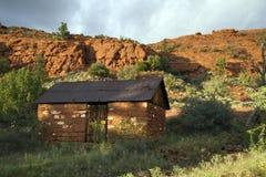 Alte Adobe-Kabine, Sedona, Arizona Stockfotografie