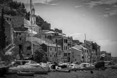 Alte adriatische Stadt Stockbilder
