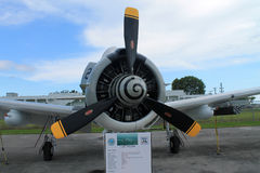Alte aemed Vorderansicht des Kampfflugzeugs Maschine Stockbild