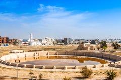 Alte Aghlabid-Becken in Kairouan Stockfoto
