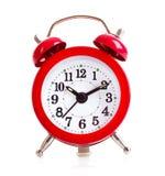 Alte Alarmuhr getrennt Stockfotografie