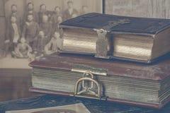 Alte Alben für Fotos Lizenzfreies Stockbild