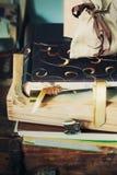 Alte Alben und Material Lizenzfreie Stockbilder