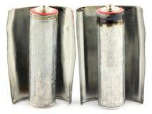 Alte alkalische Batterien Lizenzfreies Stockbild