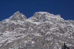 Alte alpi austriache di Tauern nell'inverno Fotografia Stock