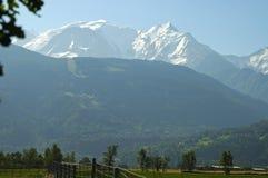 Alte alpi Chamonix Francia Fotografia Stock