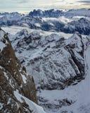 Alte alpi di inverno Immagine Stock