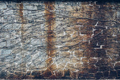 Alte alte Weinlesesteinbacksteinmauer mit Efeu Lizenzfreies Stockfoto
