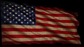 Alte amerikanische Flagge stock video footage