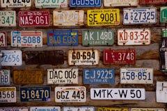 Alte amerikanische Lizenz-Platten Lizenzfreies Stockfoto