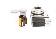 Alte analoge Kamera und Filmstreifen IV Lizenzfreie Stockfotos