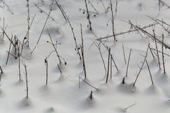 Alte Anlagen im Schnee Lizenzfreie Stockbilder