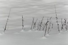 Alte Anlagen im Schnee Stockbild