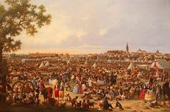 Alte Ansicht der Stadt von Sevilla Lizenzfreie Stockfotos