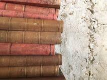 Alte antike Bücher der Weinlese lizenzfreies stockfoto