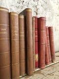 Alte antike Bücher der Weinlese stockbilder