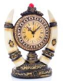 Alte antike Borduhr getrennt auf Weiß Stockfotos