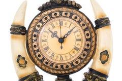 Alte antike Borduhr getrennt auf Weiß Lizenzfreies Stockbild