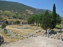Alte antike Stadt Ephese Stockfotos