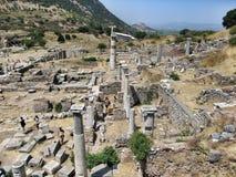 Alte antike Stadt Ephese Stockbild