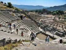 Alte antike Stadt Ephese, griechisches Theater Lizenzfreies Stockfoto