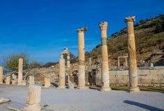 Alte antike Stadt von Efes, Ephesus-Antikenruine in der Türkei Lizenzfreies Stockbild