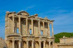 Alte antike Stadt von Efes, Ephesus-Bibliotheksruine in der Türkei Stockfoto