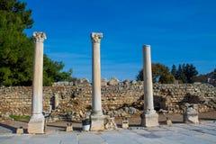 Alte antike Stadt von Efes, Ephesus-Ruine in der Türkei Stockbild